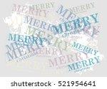 vector minimalist christmas...   Shutterstock .eps vector #521954641
