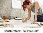 design studio architect... | Shutterstock . vector #521961889