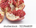Closeup View On Red Pomegranat...