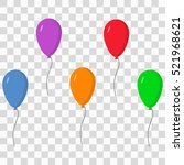 balloons set   Shutterstock .eps vector #521968621