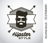 man with glasses in hipster... | Shutterstock .eps vector #521968684