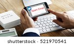 e mail popup warning window... | Shutterstock . vector #521970541