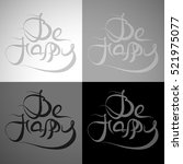 vector grayscale variations of... | Shutterstock .eps vector #521975077