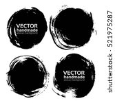 black round abstract... | Shutterstock .eps vector #521975287