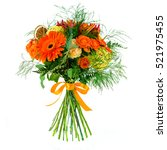 bouquet of fresh flowers in the ... | Shutterstock . vector #521975455