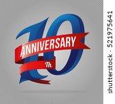 ten years anniversary... | Shutterstock .eps vector #521975641