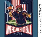 Retro Poster Of American...