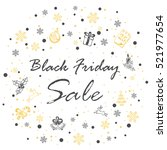 inscription black friday sale... | Shutterstock . vector #521977654