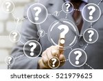 businessman touched question... | Shutterstock . vector #521979625