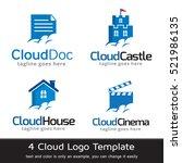 cloud logo template design... | Shutterstock .eps vector #521986135