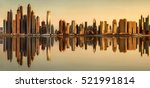 panoramic view of dubai marina... | Shutterstock . vector #521991814