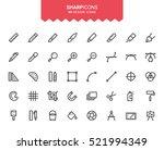 minimalistic thin line design... | Shutterstock .eps vector #521994349