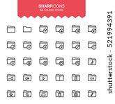 minimalistic thin line folders... | Shutterstock .eps vector #521994391