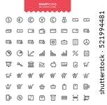 minimalistic thin line finance  ... | Shutterstock .eps vector #521994481