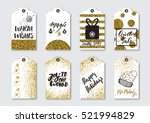 christmas  new year gift tags... | Shutterstock .eps vector #521994829