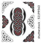 set of celtic design elements | Shutterstock .eps vector #52199563