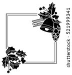 square frame with christmas... | Shutterstock .eps vector #521999341