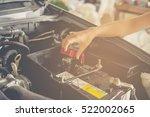 maintenance car battery by...   Shutterstock . vector #522002065