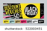 sale and black friday flat... | Shutterstock .eps vector #522003451