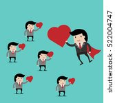 vector business finance. i love ... | Shutterstock .eps vector #522004747