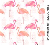 seamless pattern with pink... | Shutterstock .eps vector #522007861