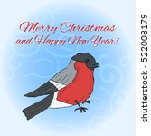 new year and christmas greeting ... | Shutterstock .eps vector #522008179