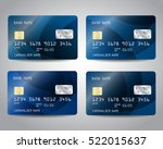 realistic detailed credit cards ... | Shutterstock .eps vector #522015637