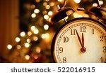 vintage alarm clock is showing... | Shutterstock . vector #522016915