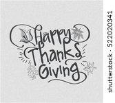 happy thanksgiving day line art ... | Shutterstock .eps vector #522020341