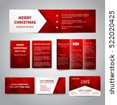 merry christmas banner  flyers  ... | Shutterstock .eps vector #522020425