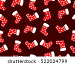 seamless pattern with christmas ... | Shutterstock .eps vector #522024799