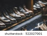 men shoes in a luxury store | Shutterstock . vector #522027001