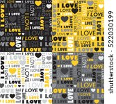 a set of seamless patterns with ... | Shutterstock .eps vector #522030199