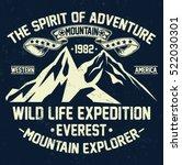 mountain explorer  vintage... | Shutterstock .eps vector #522030301