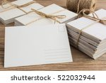blank white post cards  empty... | Shutterstock . vector #522032944