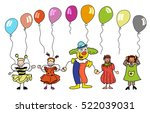 clown and sketched children...   Shutterstock .eps vector #522039031