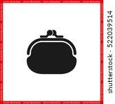 purse icon vector illustration... | Shutterstock .eps vector #522039514