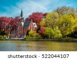 minnewater castle at the lake... | Shutterstock . vector #522044107