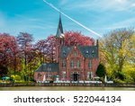 minnewater castle at the lake... | Shutterstock . vector #522044134