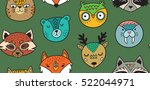 vector seamless pattern with... | Shutterstock .eps vector #522044971