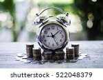 close up of time and money with ... | Shutterstock . vector #522048379