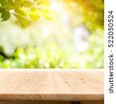 empty wooden table with garden... | Shutterstock . vector #522050524