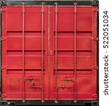 Red Metal Shipping Container...