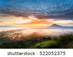 Stock photo the landscape photo beautiful sea fog in morning time at khao kho phetchabun in thailand 522052375