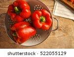 Sweet Red Peppers In Colander...