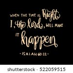 when the time is right  i  the... | Shutterstock .eps vector #522059515