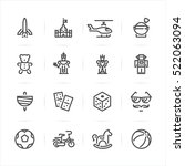 toy icons with white background | Shutterstock .eps vector #522063094
