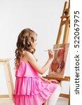 portrait of a lovely little... | Shutterstock . vector #522067975