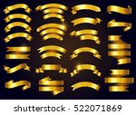 set of gold ribbons.vector... | Shutterstock .eps vector #522071869