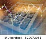line graph analysis fibonacci... | Shutterstock . vector #522073051